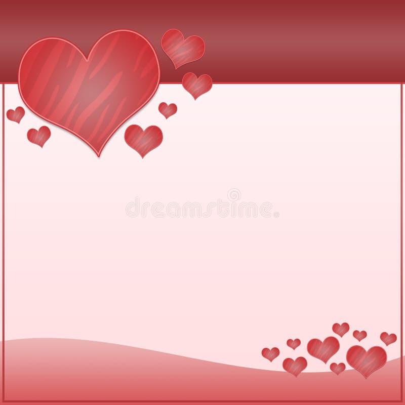 Valentinsgruß oder heiratender abstrakter Hintergrund vektor abbildung
