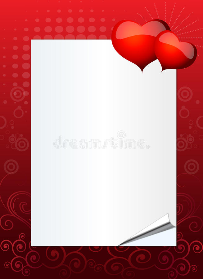 Valentinsgruß- oder Hochzeitseinladung stock abbildung