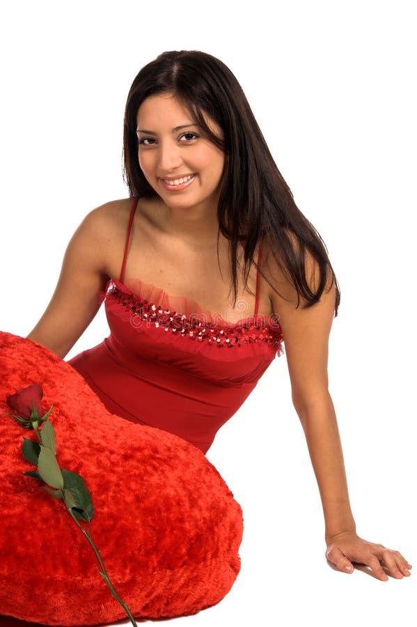Valentinsgruß Rose lizenzfreie stockbilder