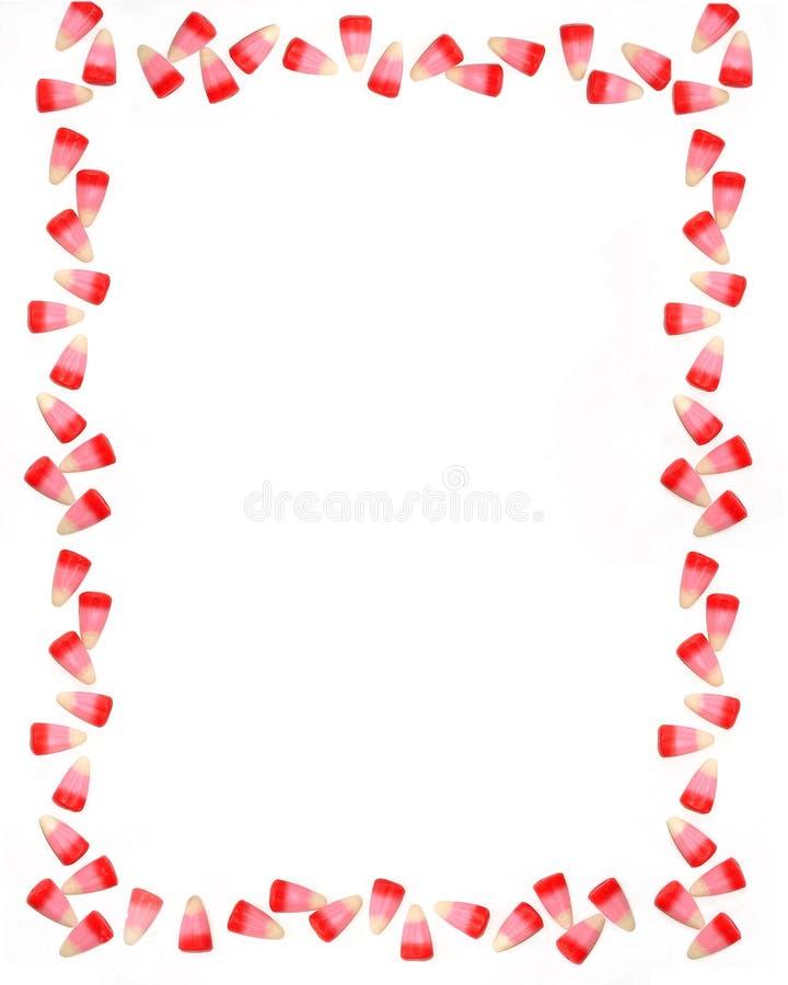 Valentinsgruß-Süßigkeit-Rand lizenzfreie stockbilder
