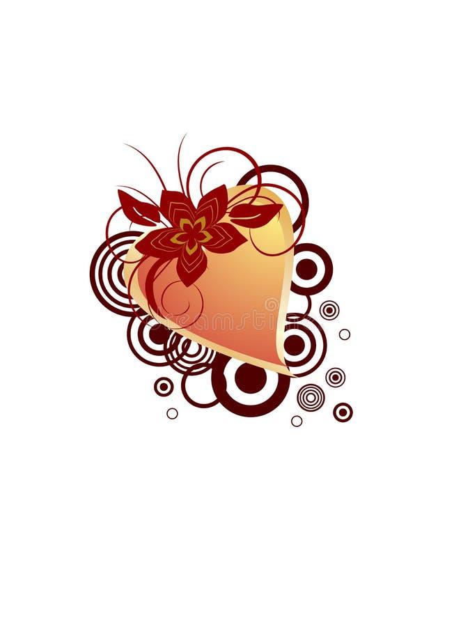 Valentinsgruß `s Inneres stock abbildung