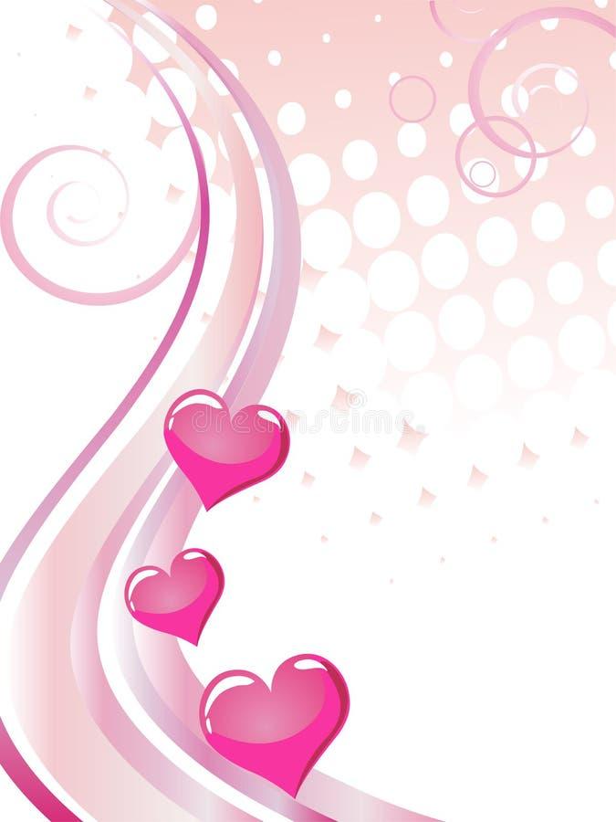 Valentinsgruß `s Karte lizenzfreie abbildung