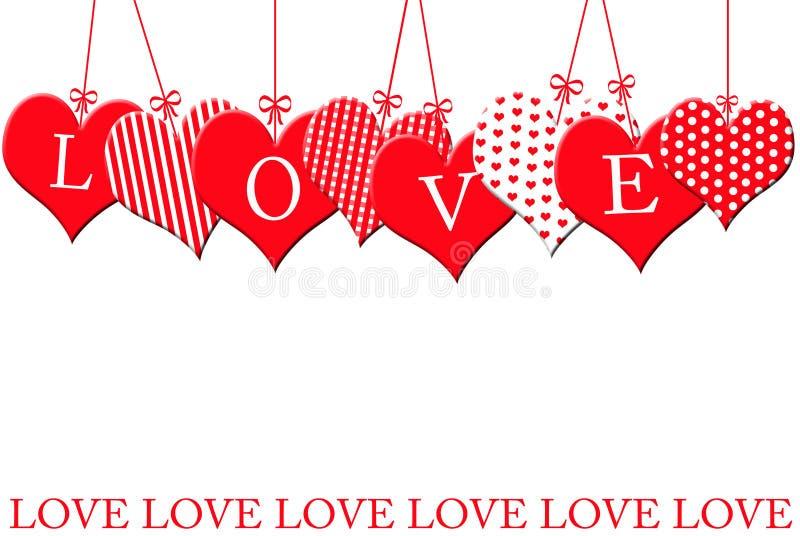 Valentinsgruß `s Rand lizenzfreie abbildung