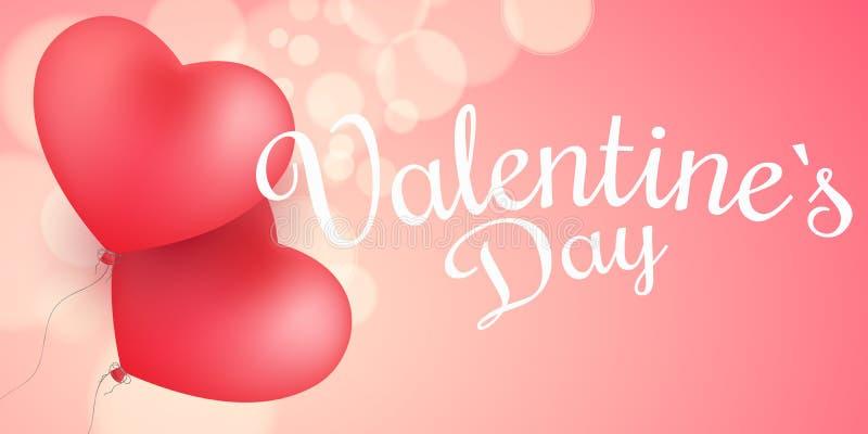 Valentinsgruß ` s Tagesabdeckung E Abstraktes Lichter bokeh auf einem rosa Hintergrund romantisch vektor abbildung