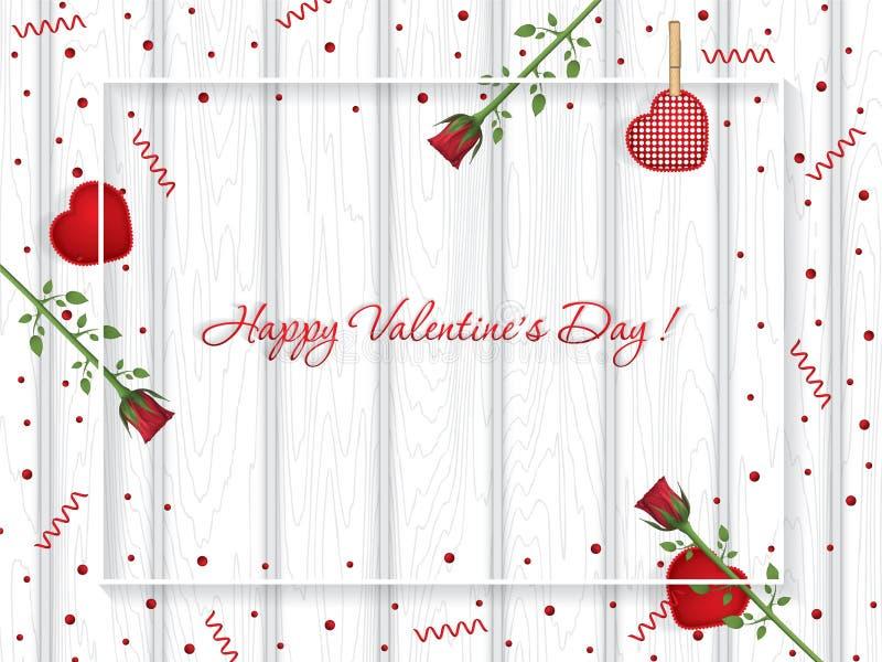 Valentinsgruß `s Tagesgrußkarte lizenzfreie abbildung