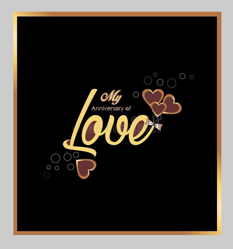 Valentinsgruß ` s Tagesliebe 2019 mein Jahrestag der Liebe stock abbildung