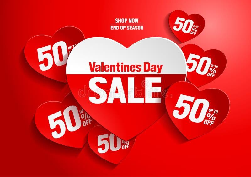 Valentinsgruß ` s Tagesverkauf vektor abbildung