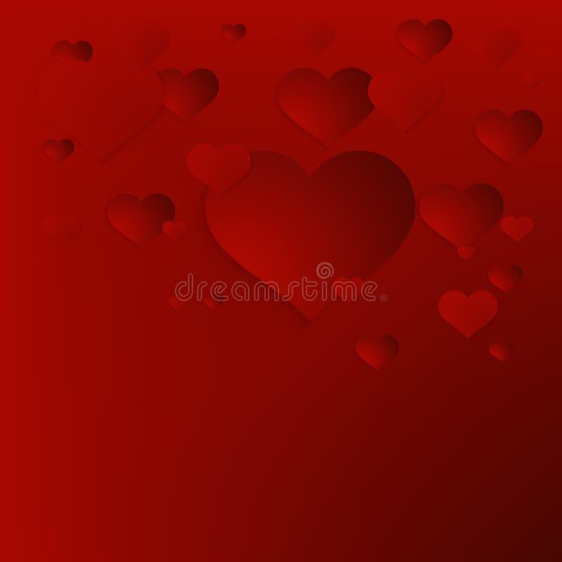 Valentinsgruß ` s Tageszusammenfassungshintergrund. + EPS10 stock abbildung