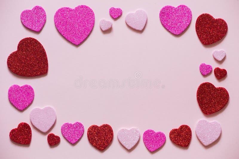 Valentinsgruß-Tag, Herz mit einem Platz für Aufschrift stockbild