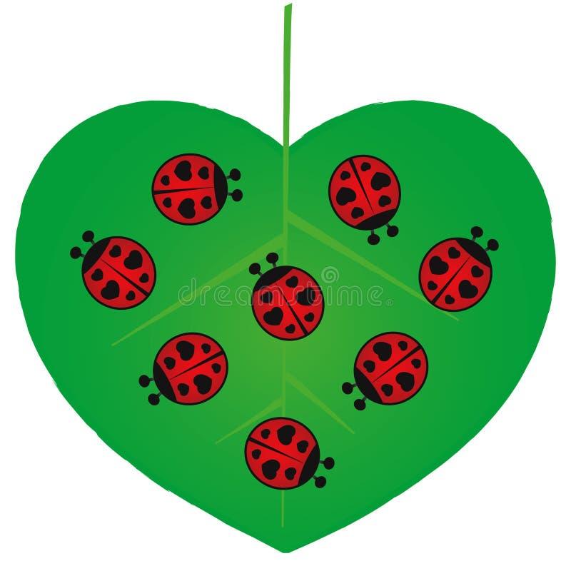 Valentinsgruß-Tag - Liebes-Programmfehler - Abbildung stock abbildung