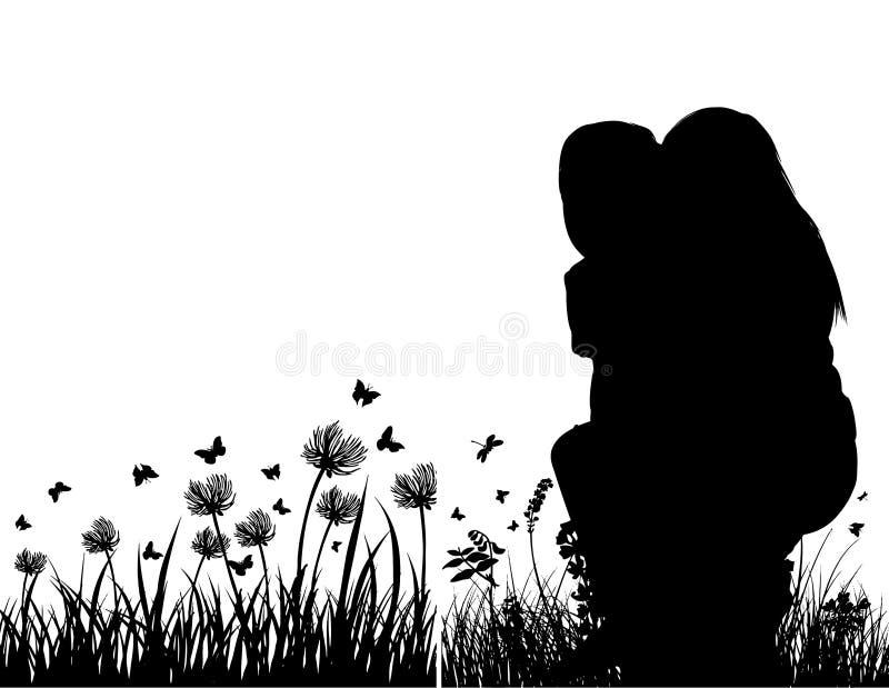 Valentinsgruß-Tag, romantische LIEBE am 14. Februar stock abbildung