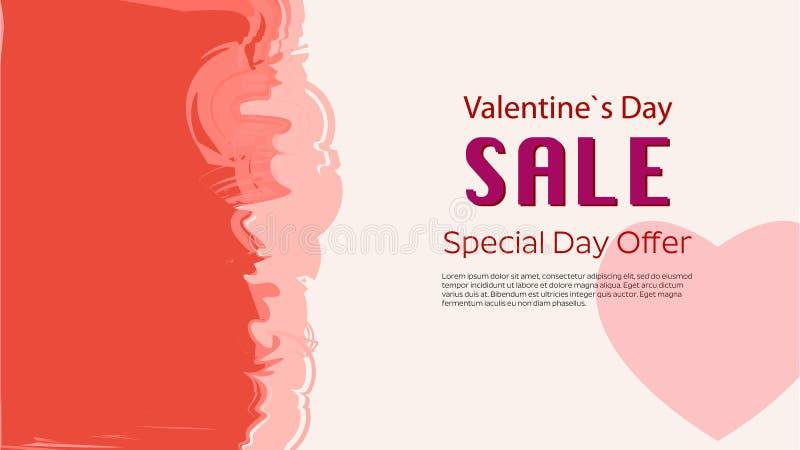 Valentinsgruß-Tag-Speacial-Verkaufswerbungs-Vektorplakat lizenzfreie abbildung