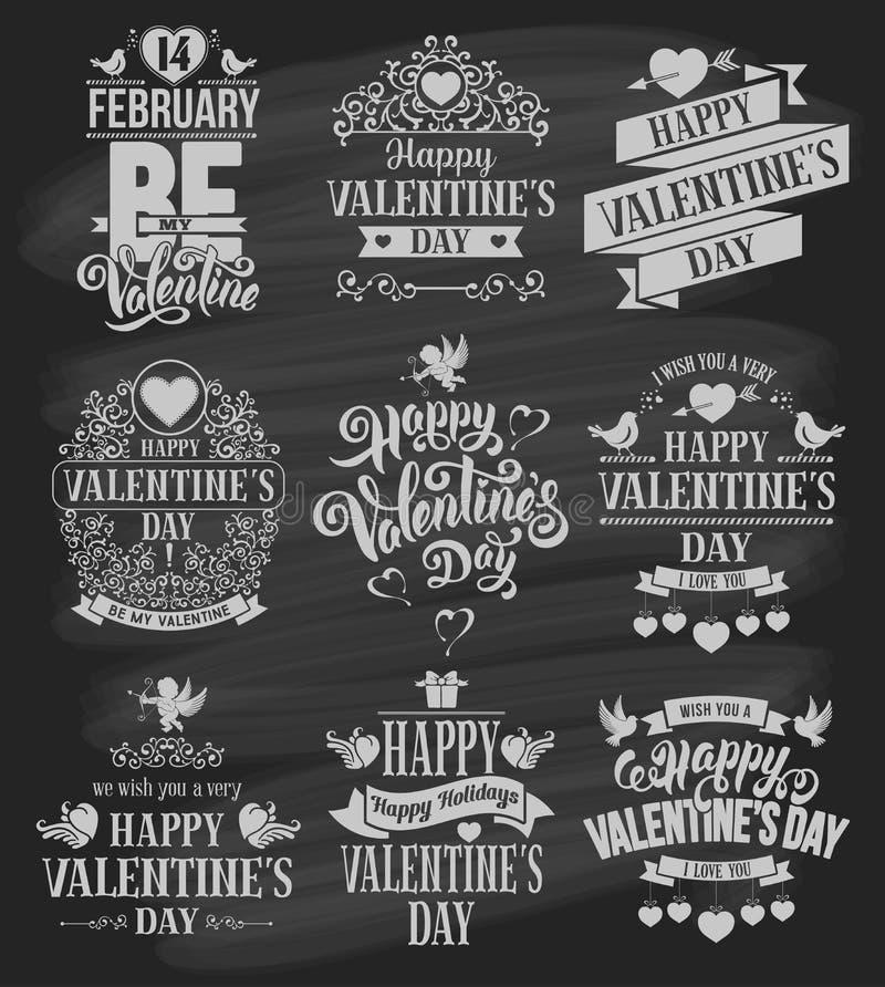 Valentinsgruß-Tagesausweise eingestellt stock abbildung