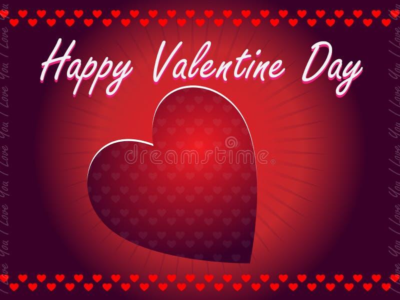 Valentinsgruß-Tagesgruß vektor abbildung