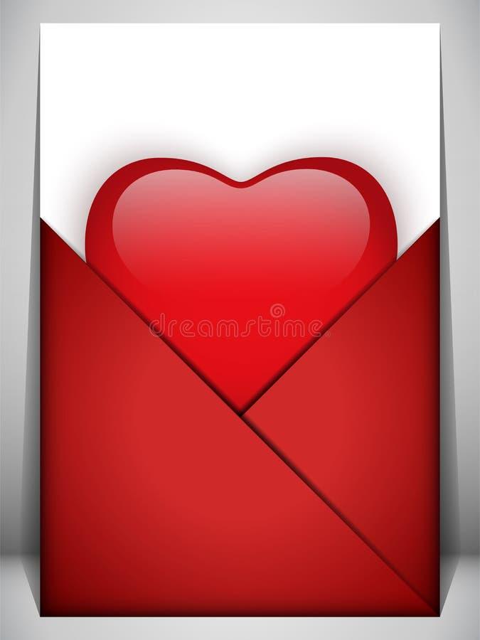 Valentinsgruß-Tagesinner-Zeichen-Liebe lizenzfreie abbildung