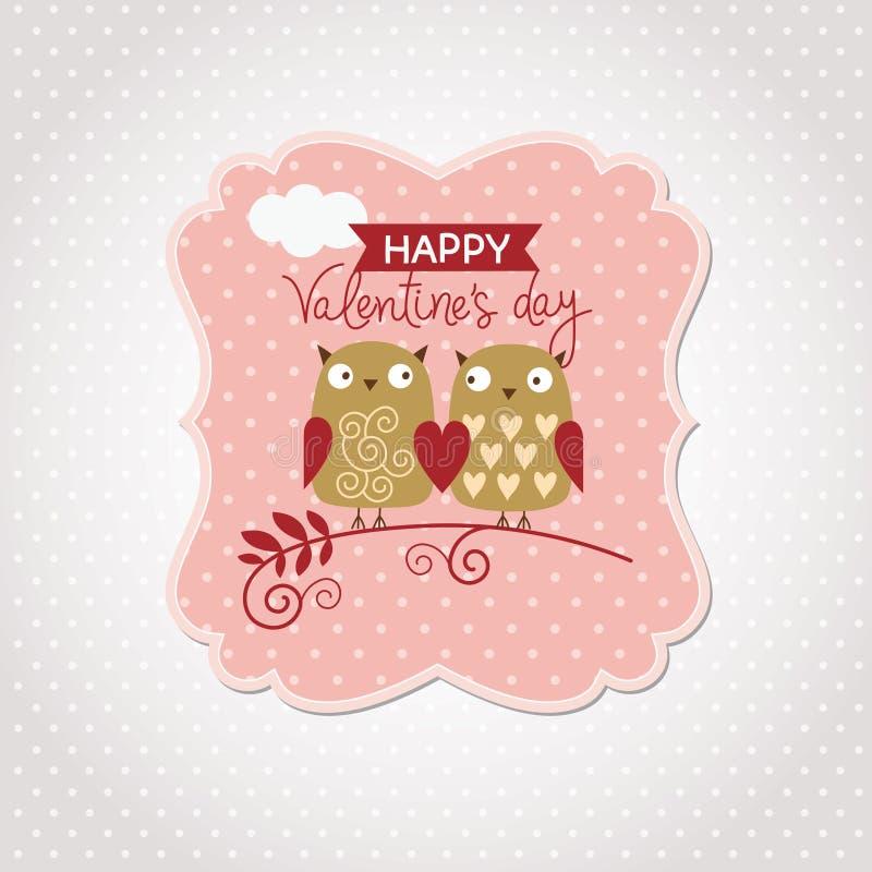 Valentinsgruß-Tageskarte vektor abbildung