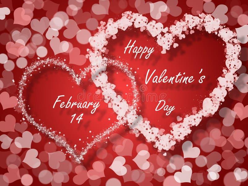 Valentinsgruß-Tageskarte stock abbildung
