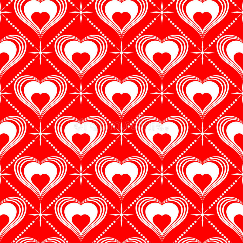 Valentinsgruß-Tagesnahtloses Muster stock abbildung