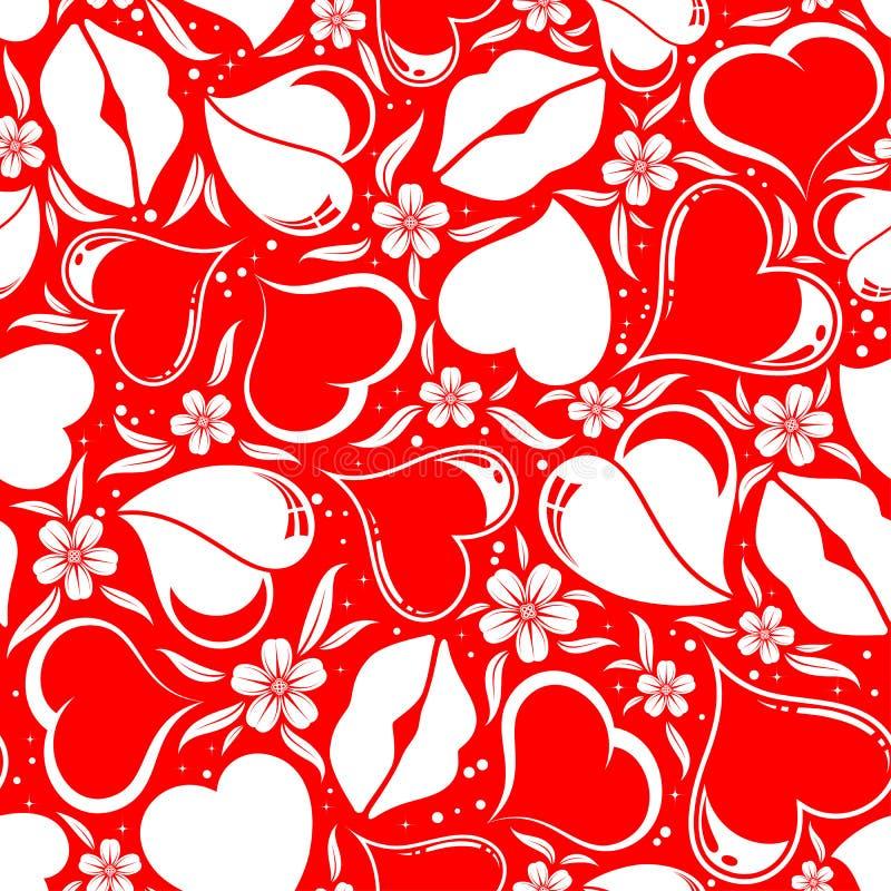 Valentinsgruß-Tagesnahtloses Muster lizenzfreie abbildung
