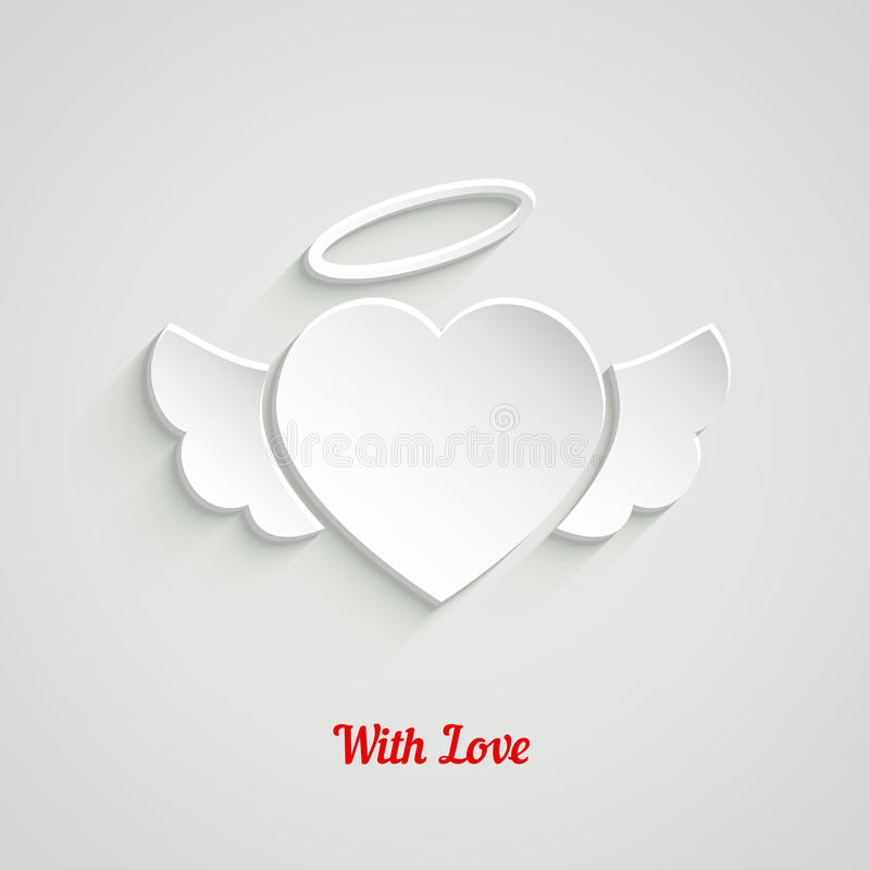 Valentinsgruß-Tagespapier-Herz stock abbildung