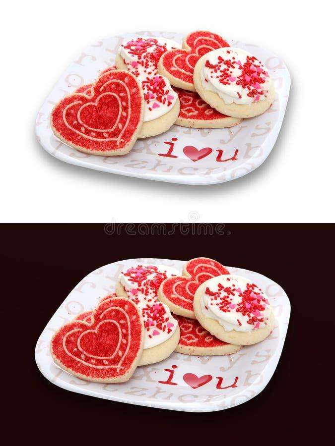 Valentinsgruß-Tagesplätzchen stockbilder