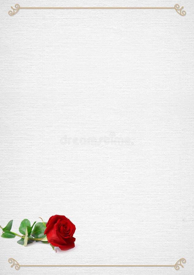 Valentinsgruß-Tagesrahmen Mit Stieg Stockbild - Bild von blume ...