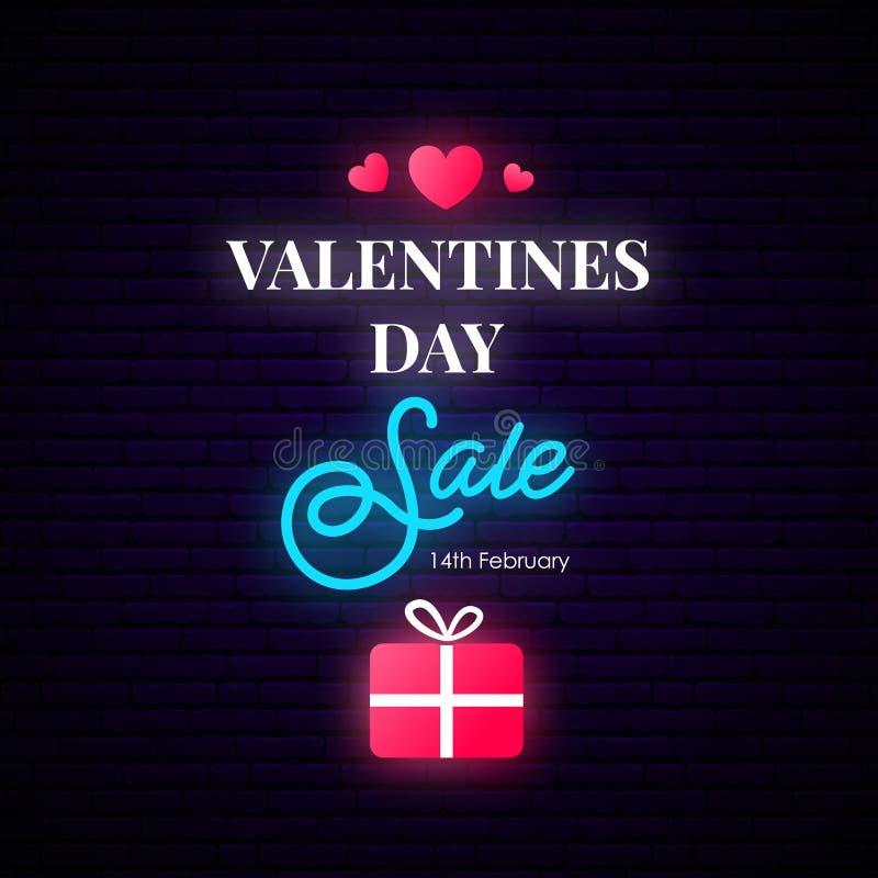 Valentinsgruß-Tagesverkaufs-Fahne E lizenzfreie abbildung