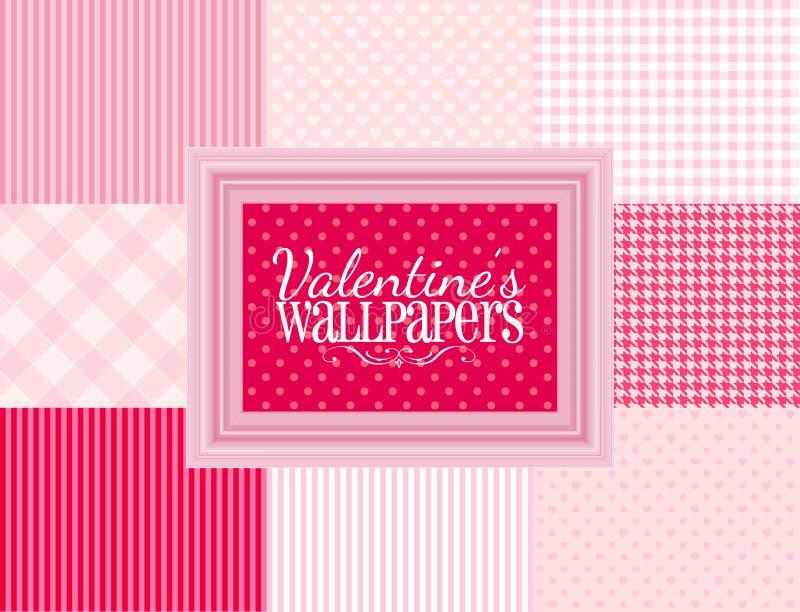 Valentinsgruß-Tapeten stock abbildung