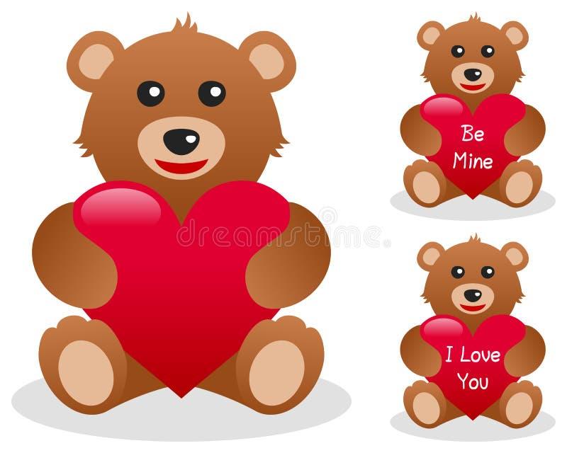 Valentinsgruß-Teddybär Mit Innerem Lizenzfreies Stockfoto