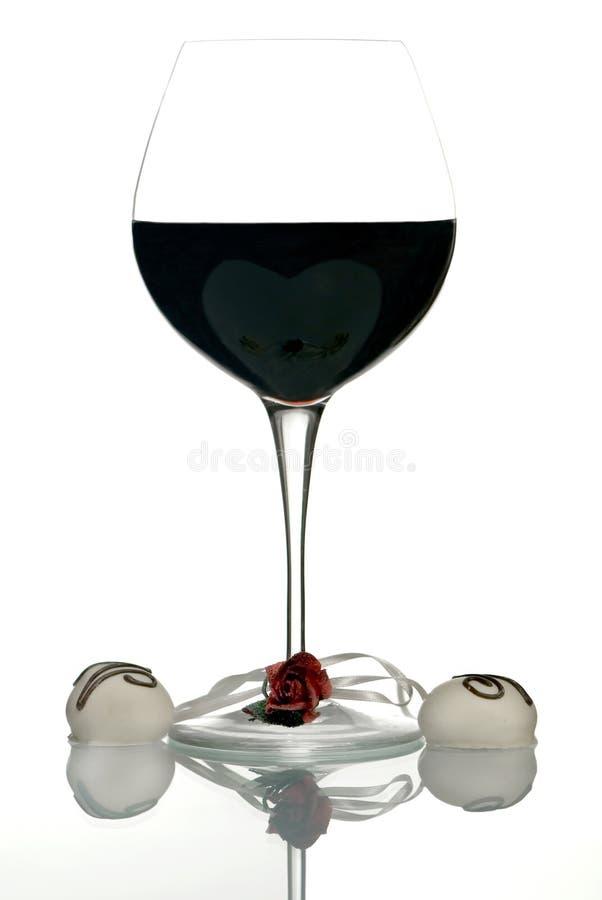 Valentinsgruß-Wein stockbilder
