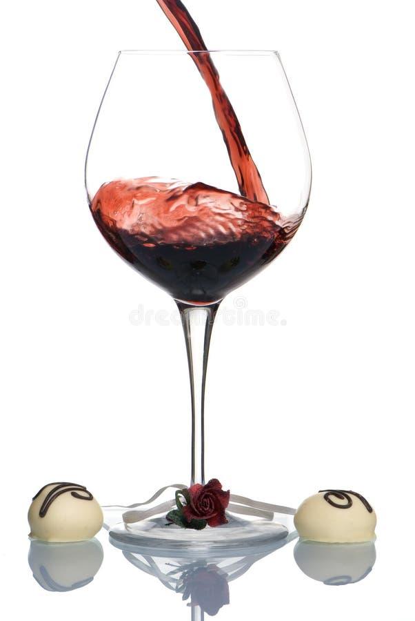 Valentinsgruß-Wein 2 lizenzfreies stockfoto