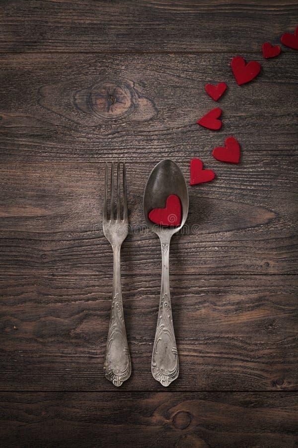 Valentinsgrußabendessen lizenzfreie stockfotos