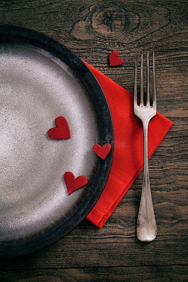 Valentinsgrußabendessen stockbilder