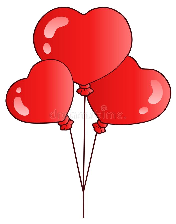 Valentinsgrußballone stock abbildung