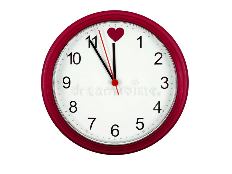Valentinsgrußborduhr stockfotos