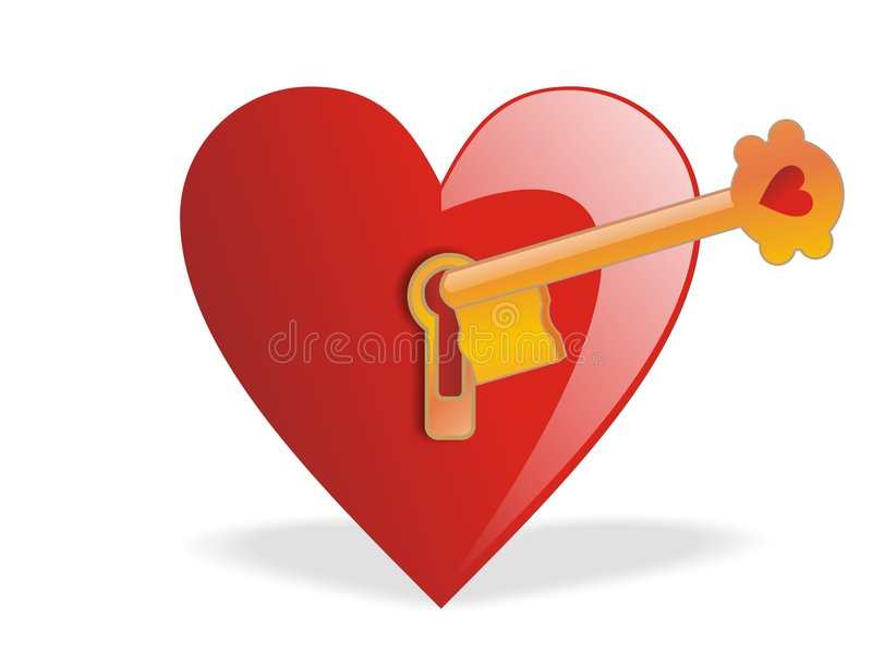 Valentinsgrußes - Taste der Liebe lizenzfreie abbildung