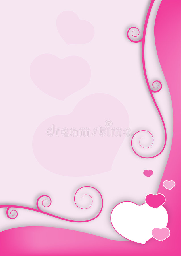 Valentinsgrußfeld stock abbildung