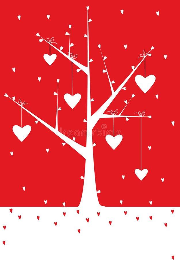 Valentinsgrußhintergrund lizenzfreie abbildung