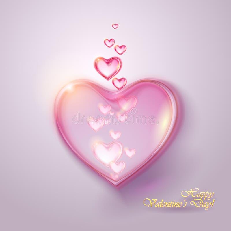 Valentinsgrußhintergrund mit Herzen stock abbildung