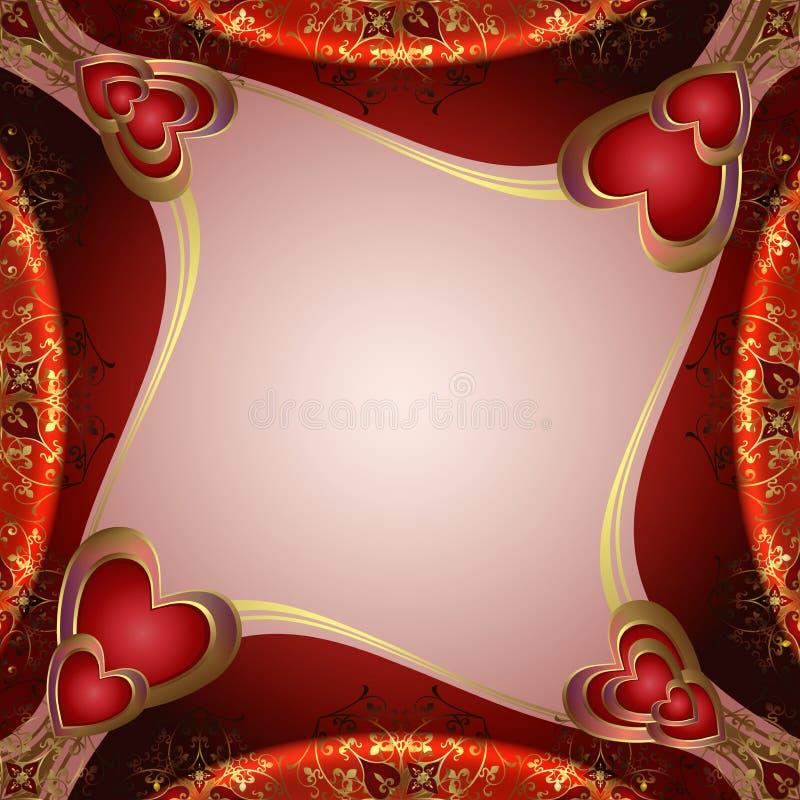 Download Valentinsgrußhintergrund Mit Inneren Vektor Abbildung - Illustration von pink, farbe: 26370645