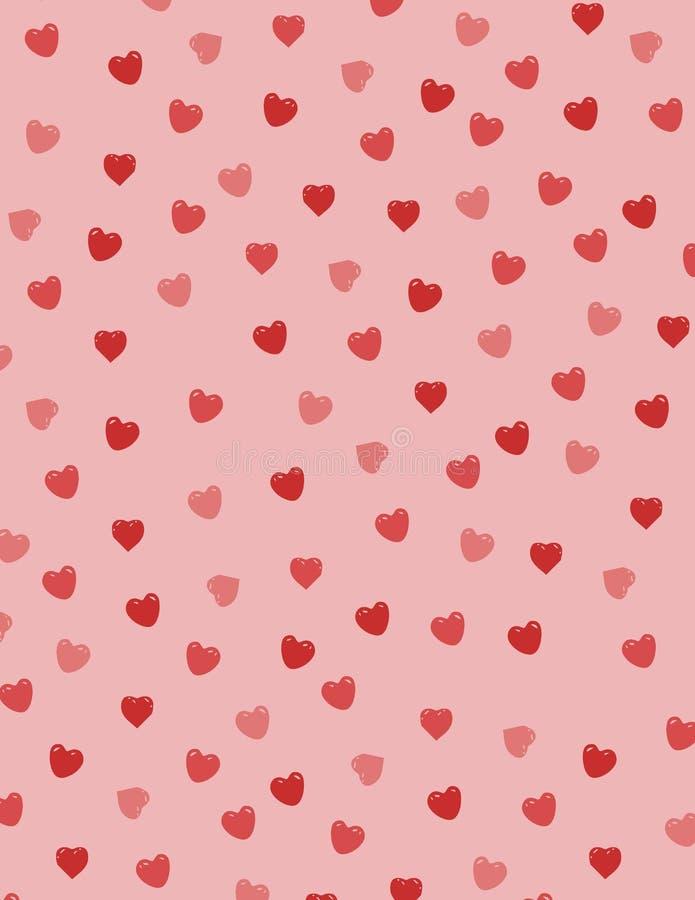 Valentinsgrußinnere lizenzfreie abbildung