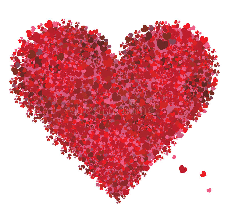 Valentinsgrußinnerform, Liebe vektor abbildung