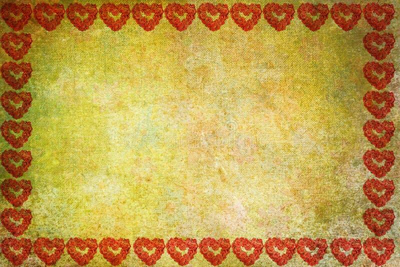Valentinsgrußkarte, färben abstrakten Hintergrund stock abbildung