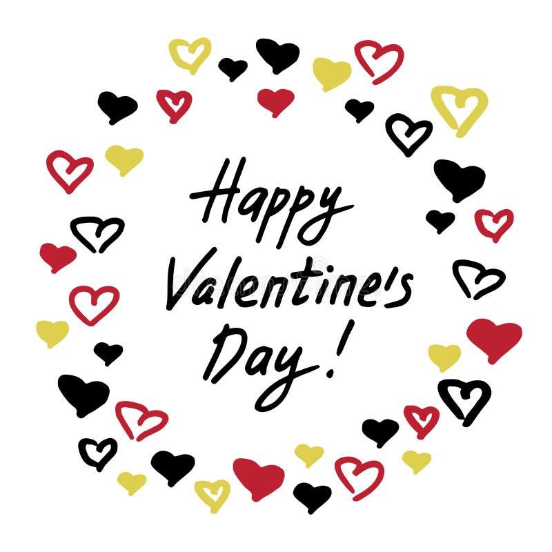 Valentinsgrußkarte mit Herzrahmen stock abbildung