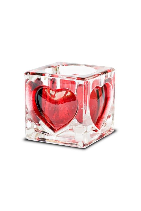 Valentinsgrußkerzenhalter lizenzfreie stockfotos
