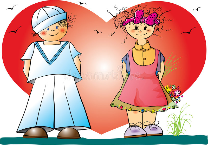 Valentinsgrußkinder stock abbildung