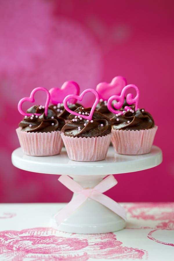Valentinsgrußkleine kuchen lizenzfreies stockfoto