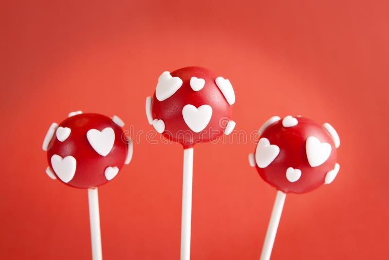 Valentinsgrußkuchenknalle lizenzfreies stockbild