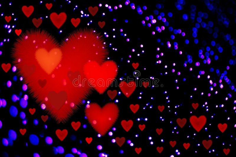 Valentinsgrußleuchte lizenzfreie abbildung