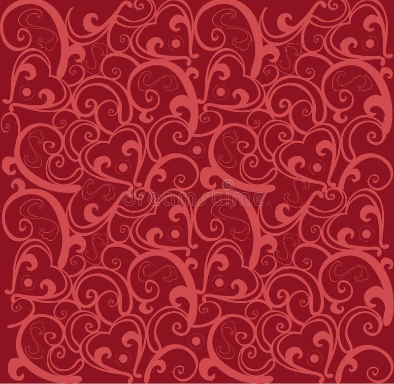 Valentinsgrußliebesmuster stock abbildung